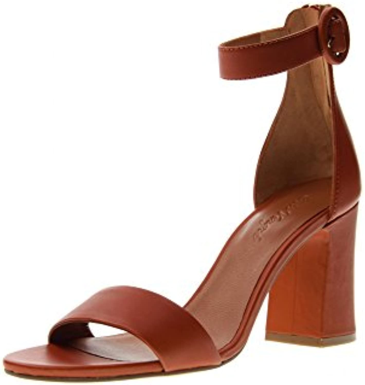 Cris VERGRE' Zapatos Mujer Sandalias de Tacón H6106X Burnt