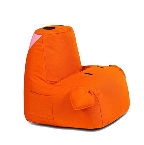TongN-Sitzsäcke Schwein-Form-kleine Faule Couch mehrfarbiges Starkes Kissen-Schlafzimmer-Wohnzimmer-Balkon-Tatami-Gewebe-einzelner Stuhl 55 × 65cm (Color : Orange, Size : B) (Wohnzimmer-gewebe-stühle)