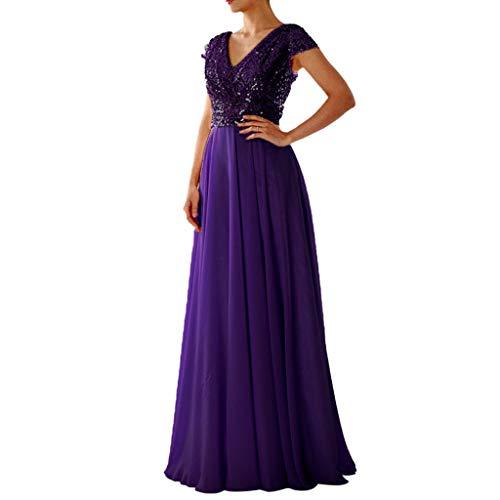 2019 Pailletten Kleid Kleid Damenmode Kurzarm tiefem v-Ausschnitt hohe Taille Patchwork Elegante Party Kleid Kleid Sonojie