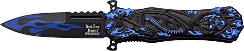Dark Side Blades Taschenmesser Blue Black Dragon Claw, Klingenlänge: 8,89 cm, DS-A049BL (Taschenmesser Dark Blue)