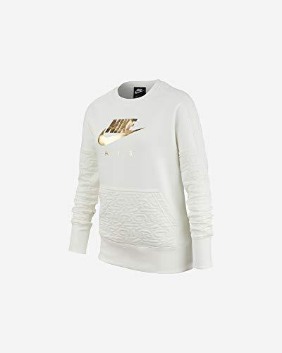 Nike Mädchen Air Sweatshirt, Segel/Metallgold, XL