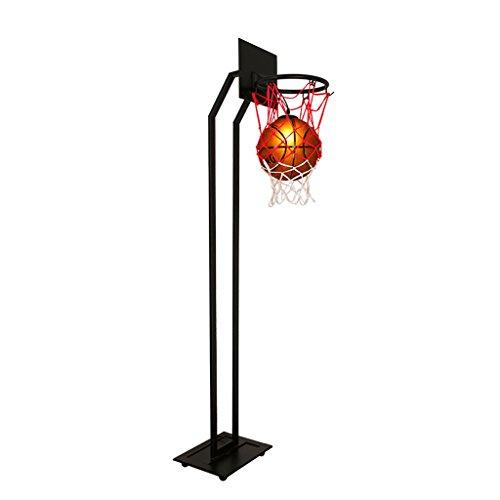 Ywyun Lampada da terra di pallacanestro, lampada da terra creativa della personalità del salone, lampada da terra della stanza dei bambini di studio del ristorante di arte del post-moderno, paralume di vetro di pallacanestro