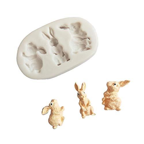 Silikonformen in Form eines Kaninchens zur Modellierung von Weichböden