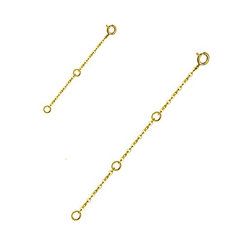 WINNICACA Kettenverlängerung S925 Sterling Silber Halskette Extender Armband Extender Ketten für Schmuckherstellung, Kettenverlängerung 2-Piece-Set