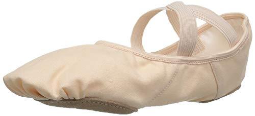Ballettschläppchen Ballettschuhe von Capezio mit geteilter Sohle in den Farben Schwarz, Rosa, Weiß und Hautfarbe (6 / EU 35.5 / UK 3, Rosa)