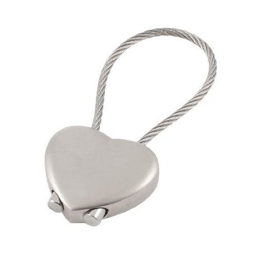 Preisvergleich Produktbild sourcingmap® Metall Schraube Verschluss Drahl Drahtschlaufe Schlüsselanhänger Schlüsselring