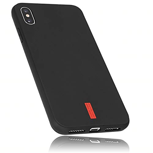 mumbi Schutzhülle Kompatibel mit iPhone XS Max Hülle mit rotem Streifen