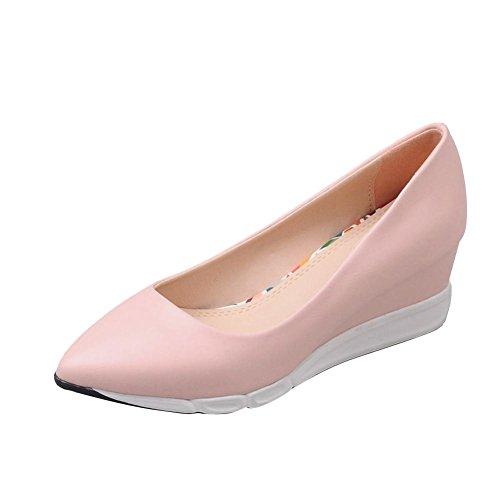 Mee Shoes Damen speziell simpel Keilabsatz Geschlossen spitz Plateau Pumps Freizeitschuhe Pink