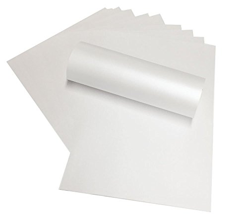 100 Blatt A4 matt-weißes Papier, Perlglanz-Papier, doppelseitig, 120g/m², geeignet für Inkjet- und Laser-Drucker (Doppelseitig Laser-drucker)