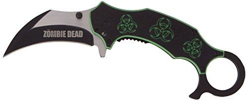 Haller Uni Zombie Dead Karambit Taschenmesser Messer, Silber, 0 -