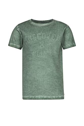Baker Bridge Jungen Kurzarm T-Shirt  öl Gefärbt Gruner T-Shirt Mit , Teus Green Lily, Gr. 146/152 - Gefärbtes T-shirt