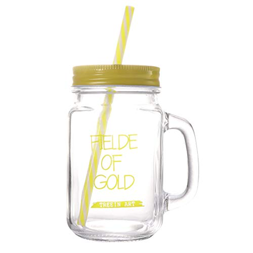n-Becher mit doppelwandigem Isolierglas Becher mit Deckel (gelb) ()