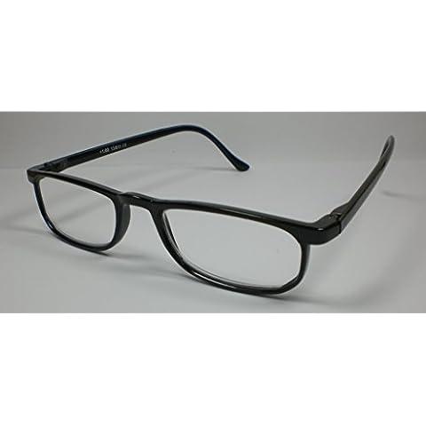Pratico lettura occhiali + 3,0 Diop. unisex plastica Design3 Nero lettura l'aiuto lenti