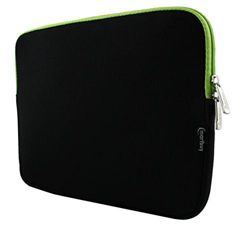 emartbuy-schwarz-grun-wasserdicht-neopren-weicher-reissverschluss-kasten-abdeckung-sleeve-mit-grun-i