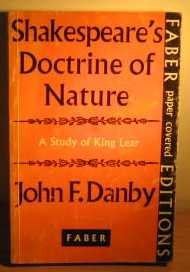 Shakespeare's Doctrine of Nature: King Lear by John F. Danby (1949-12-06)