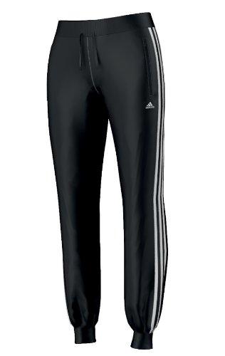 adidas Pantalon en polyester pour femme noir/blanc