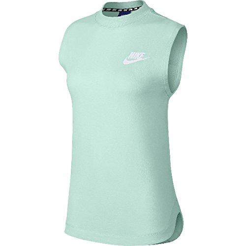 Nike Damen Sportswear Advance 15 Tanktop, Atmosphere Grey/White, M