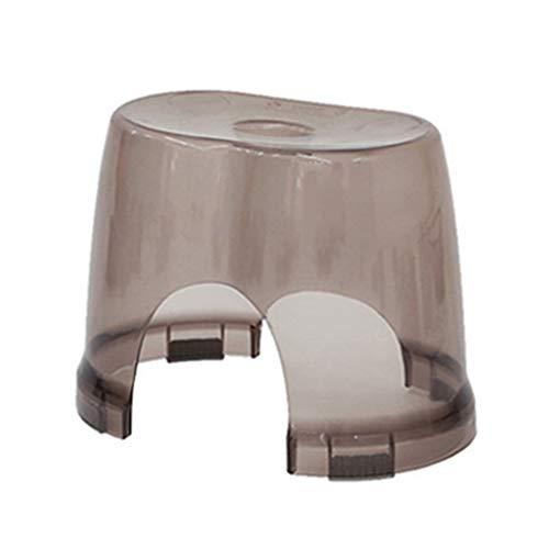 SONGDP Duschstuhl Badehocker Kunststoff Duschsitz Hocker Fußwaschhocker Fashion Safety Slip Kind Bad Hocker Multifunktions Transparent (Braun) Duschhocker Badsitz mit