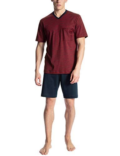 Calida Herren Relax Streamline 1 Zweiteiliger Schlafanzug, Rot (Rumba Red 159), (Herstellergröße: XX-Large)