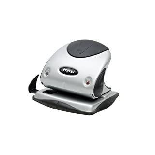 Rexel 2100743 Precision P225 2 Hole Punch Black/Silver 25 Sheet Capacity and Paper Alignment Indicator