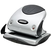 Rexel Precision P225 2 Hole Punch Black/Silver 25 Sheet Capacity and Paper Alignment Indicator