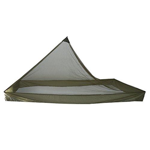 MagiDeal Tragbare Reise Camping Moskitozelt Trekkingzelt Moskito Schutz Zelt, Ultraleicht Zelt mit Aufbewahrungstasche und Nagel für Camping/Wandern/Outdoor, 220 x 120 x 100 cm - Grün
