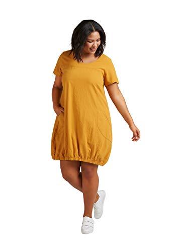Zizzi Damen Weiches Kleid, Gelb (Yellow 1238), 42 (Herstellergröße: S (42/44))