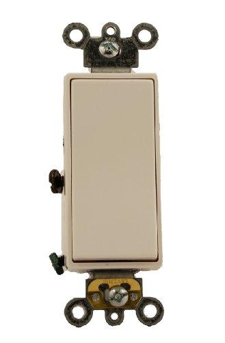 Leviton 5623-2W 20 Amp, 120/277 Volt, Decora Plus Rocker 3-Way AC Quiet Switch, Commercial Grade, White by Leviton -