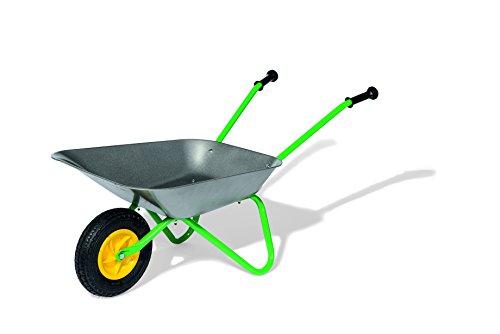 Metallschubkarre, Air Tyre, Farbe Grau/Grün