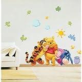 Disney - Winnie The Pooh - Wandsticker - Wandtattoo - Tigger - Piglet -Eeyore - Gr. ca. 60x33 cm - aus USA
