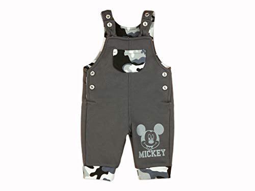 Bequeme Jungen Baby Latzhose Freizeithose Cord-Hose Spielhose Baumwolle in Grösse 68 74 80 86 92 98 104 mit Mickey Mouse Motiv von Disney Baby Farbe Modell 10, Größe 68