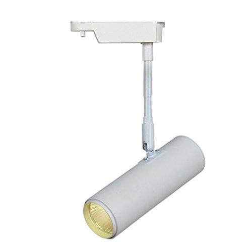 Downlights Lange Stange LED Scheinwerfer TV Hintergrund Decke Bekleidungsgeschäft Bibliothek Orbital Strahler Spotleuchten & Leuchtensysteme (Color : Weiß, Size : 20 cm)