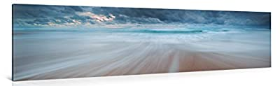 STORMY DAY AT THE BEACH - Premium canvas art print Wall Decor - XXL Giclee Canvas Print, Wall Art Canvas Picture, Canvas picture stretched on a frame, Canvas image in High Definition