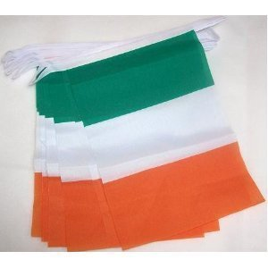 m 10Flagge Irland dreifarbig Wimpelkette (Bunting Irland)