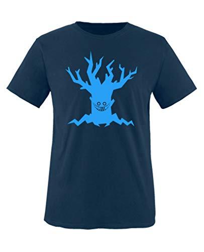 Comedy Shirts - Boeser Baum - Halloween - Jungen T-Shirt - Navy/Blau Gr. 152-164