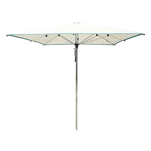 SORARA Parasol Jardin   Blanc   250 x 250 cm / 2.5 x 2.5m   Carré Paris   Polyester 300 g/m² (UV 50+)
