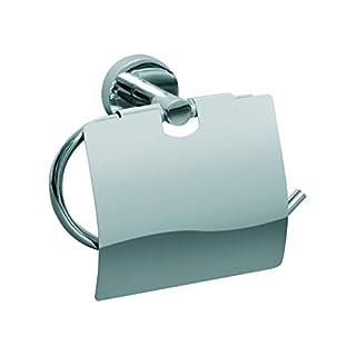 AquaConcept WC-Papierhalter mit Deckel Zink verchromt Silber 6.5 x 15.7 cm