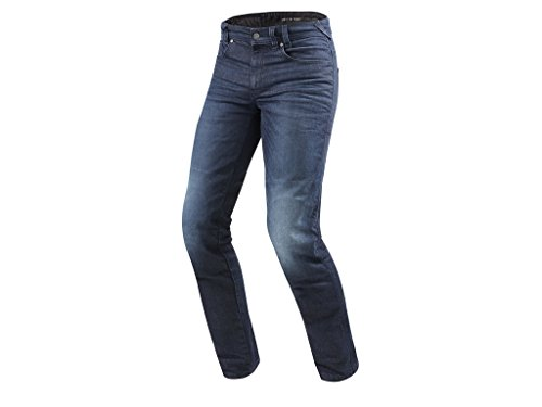 REV'IT! Motorradhose, Jeanshose, Motorradjeans Vendome 2 RF Jeanshose dunkelblau Used 34/32, Herren, Chopper/Cruiser, Ganzjährig, Textil -