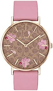 Coach Women'S Multicolor Dial Pink Calfskin Watch - 1450