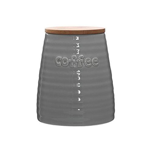 Premier Housewares Winnie Boîte à thé, Céramique, gris, 12 x 12 x 14 cm