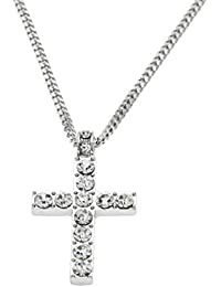 6ac132849a514 Logobeing Collar Colgante Cruz Largos Cadena Hip Hop Hombres Mujeres Joyas  Bling Rhinestone Cristal Metal Estilo