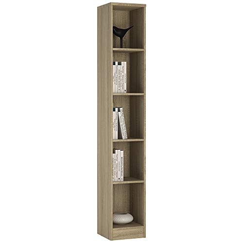 Möbel To go 4 YOU Hoch Bücherregal, schmal, mit Melamin, 30 x 190 x 35 cm - Sonama Oak -