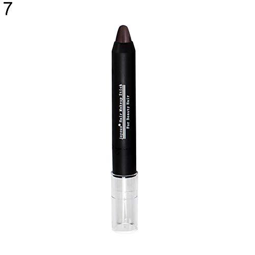 Haarfarbe clifcragrocl,Tempor?re Abdeckung Wei? Ungiftig Salon Instant Haarfarbe Dye Crayon Chalk Stick - 7#
