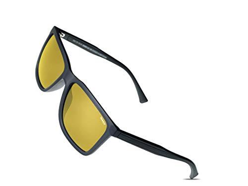 SINNER Nachtsichtbrille mit Polarisierte Gelbe Gläser Verbessert Nachtsicht während Autofahren - Anti-Glanz Nachtbrille & Nachtfahrbrille auto