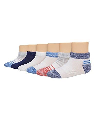 Hanes Toddler Boys 6-Pack Low Cut Socks