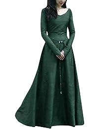 a2b6bd4d4288 PengGengA Donne Abito Medievale Cosplay Costume Fancy Dress Maxi Abiti