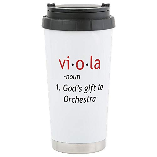 CafePress - Definition of a Viola Stainless Steel Travel Mug - Stainless Steel Travel Mug, Insulated 16 oz. Coffee Tumbler by CafePress Wall Insulated Travel Mug