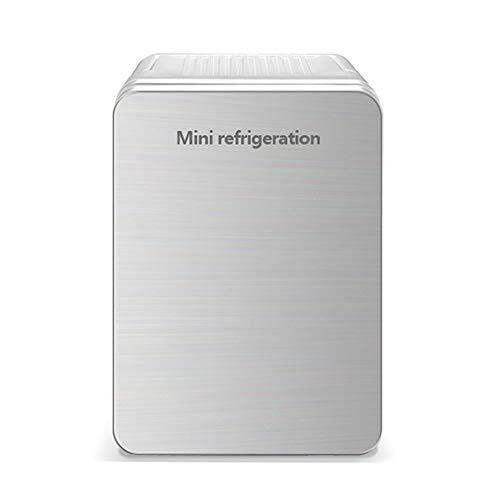 LHAO 10L Auto Kühlschrank, Cools & Heats Persönlicher elektrischer Kühler, tragbarer Compact, Kühlschrank, Road Trips, Häuser, Büros und Schlafsäle,Silver