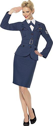 Smiffys, Damen WW2 Airforce Hauptmännin, Jacke, Mock Hemd mit Schlips und Gürtel, Größe: S, 35527 (Stewardess Uniform)