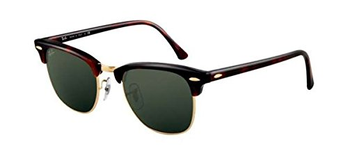 gafas-de-sol-unisex-ray-ban-clubmaster-lens-base-6-51mm-brown-green